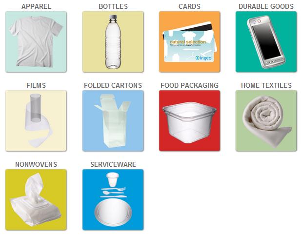 Ingeo prodotti in bioplastica biodegradabile compostabile