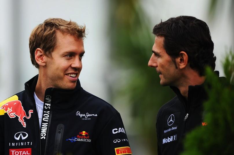 Себастьян Феттель и Педро де ла Роса на Гран-при Венгрии 2011