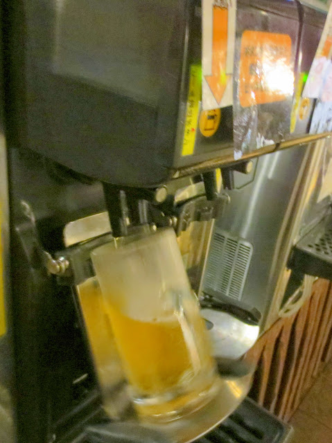The automatic beer machine at Beer Air