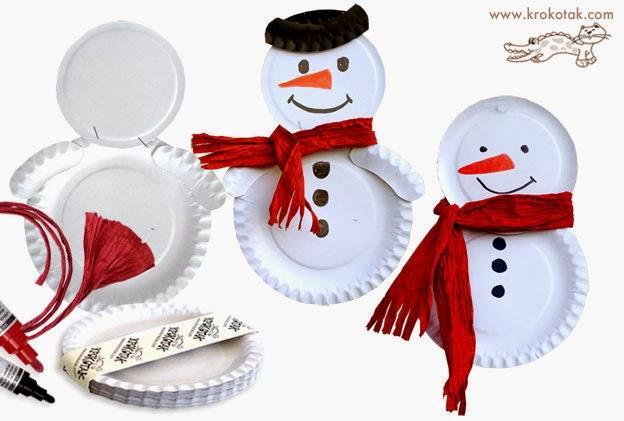 Поделки из тарелок одноразовых новогодние