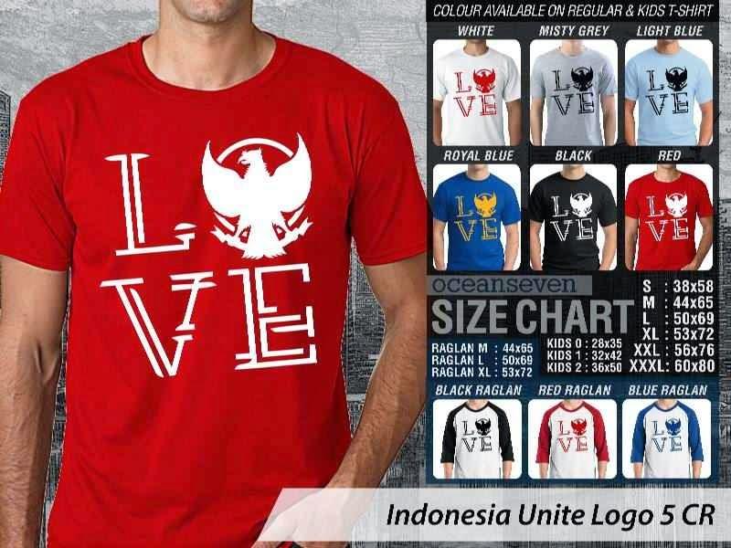 KAOS Indonesia Unite Logo 5   KAOS Desain Love Indonesia garuda distro ocean seven