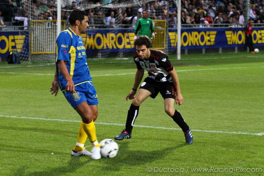 Жером Д'Амброзио на футбольном матче в Спа на Гран-при Бельгии 2011
