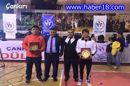 Çankırı Belediyesi Gençlik Spor Kulübü güreşçisi Emre Can Demirel