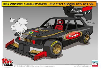 Lotus готовит машину для Мальдонадо и Грожана - комикс Chris Rathbone