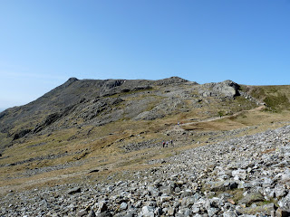 Ill Crag. There sre a few walkers around now as we descend from Great End.