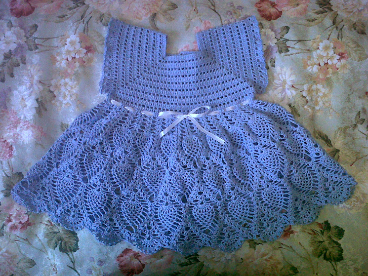 Вязание крючком платье ананасами для девочки крючком 68
