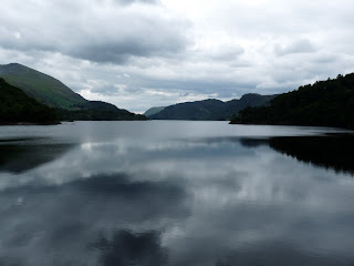 As I walked along the top the dam I could see down Thirlmere without any obstructions. Although it was a cloudy afternoon the reflections on the water were lovely.
