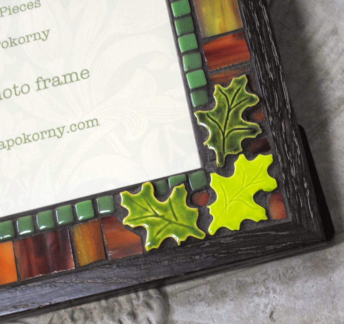 Warm Autumn Leaves 5 x 7 Mosaic Photo Frame MOF1395