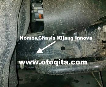 Posisi nomor rangka kijang innova diesel dan bensin