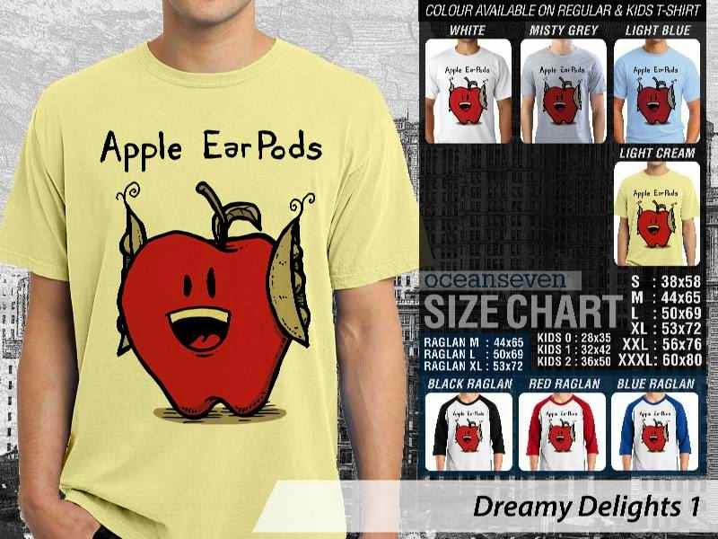 KAOS lucu Apple Ear Pods Dreamy Delights 1 distro ocean seven