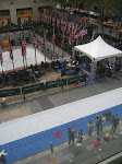 The set up of the Rink and the Plaza