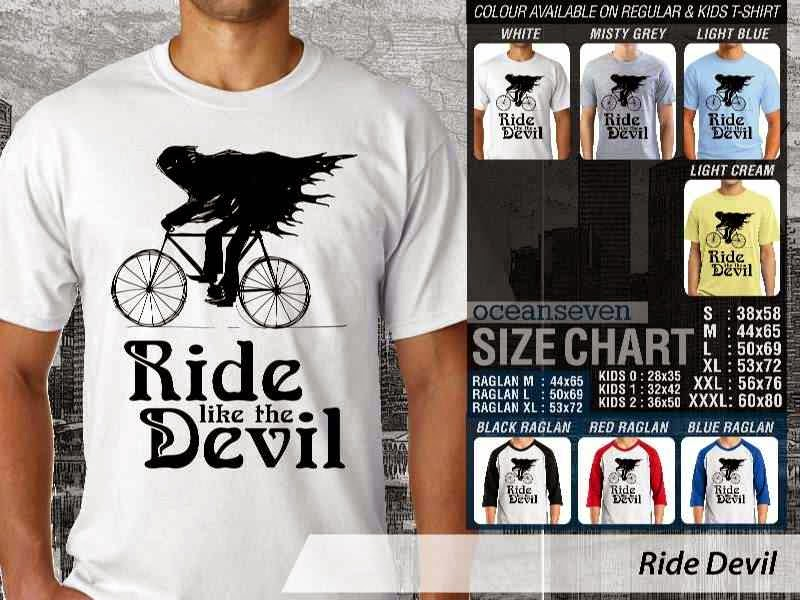 KAOS Ride Devil Untuk Sepeda Biker Mania distro ocean seven
