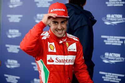 Фернандо Алонсо на поуле Гран-при Великобритании 2012