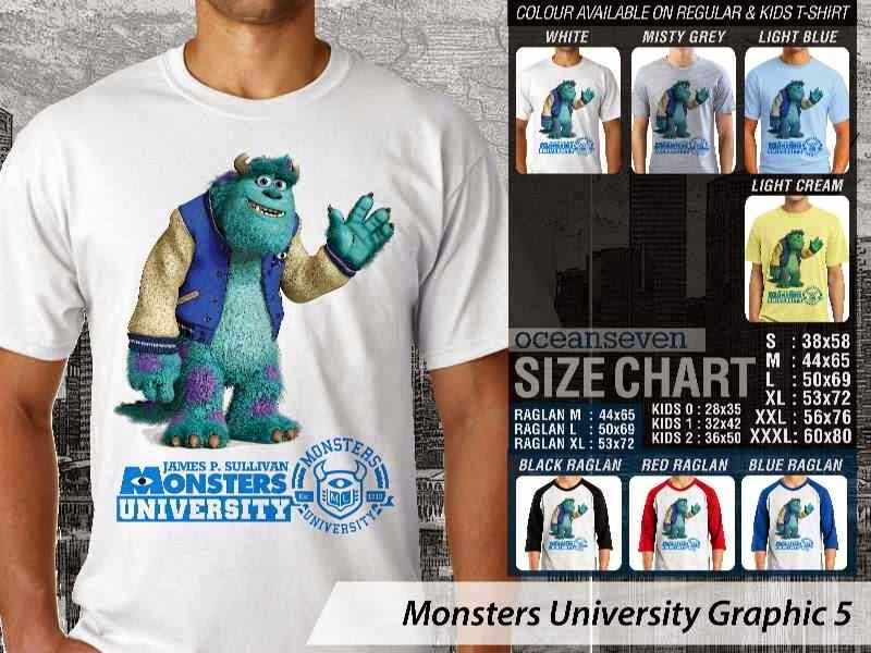 KAOS Monster University 15 Film Lucu distro ocean seven