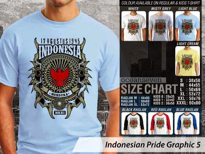 KAOS 17 Agustus 1945 Indonesia NKRI Merdeka Indonesian Pride Graphic 5 distro ocean seven