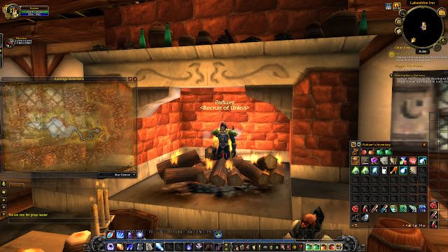 World of Warcraft - Standing in a fireplace