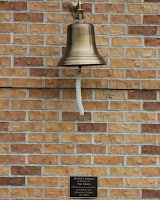 This bell is dedicated in memory of Pam Reinke and her 26   years of service to Cannon Falls Elementary School