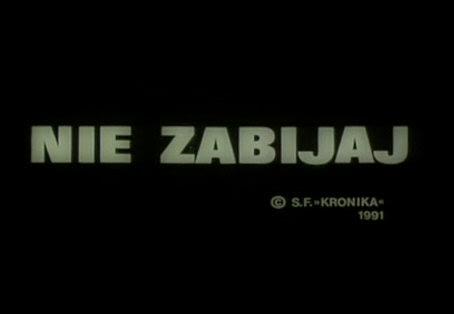 Nie Zabijaj (1991) PL.TVRip.XviD / PL