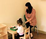 At our Parent & Child program for toddlers, children get to explore the Montessori toddler environment with their parents. It's a great way to try out Montessori for your family.