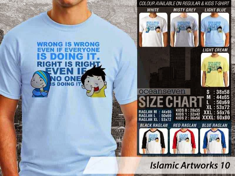 KAOS Muslim Wrong is Wrong even if Everyone is doing it. Right is right even if no one is doing it. Islamic Artworks 10 distro ocean seven