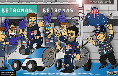 комикс aleXstep по Гран-при Малайзии 2013