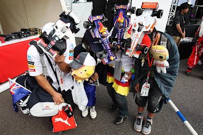 болельщики Sauber Red Bull McLaren на Гран-при Японии 2012