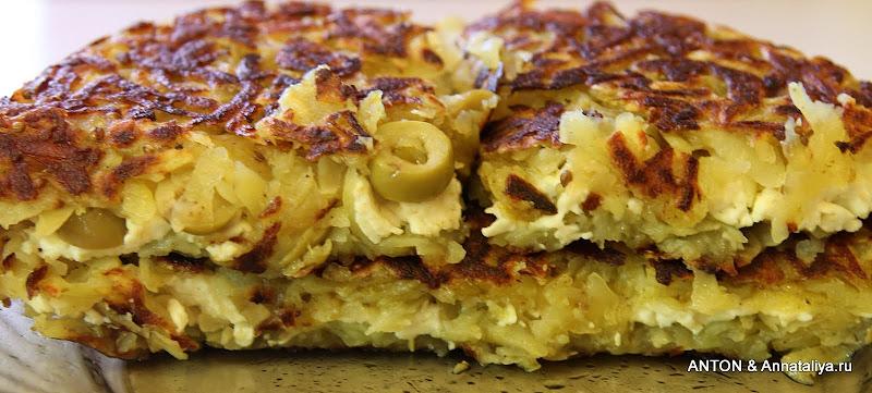 Картофельная запеканка на плите рецепт