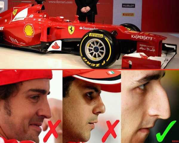 Роберт Кубица лучше всех подходит к новому носатому болиду Ferrari 2012