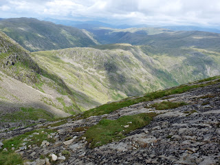 Rossett Pike and beyond from The Great Slab - Bowfell