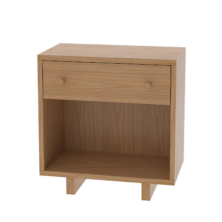 Matching Furniture Piece: Parsons Nightstand with Shelf, Natural Oak