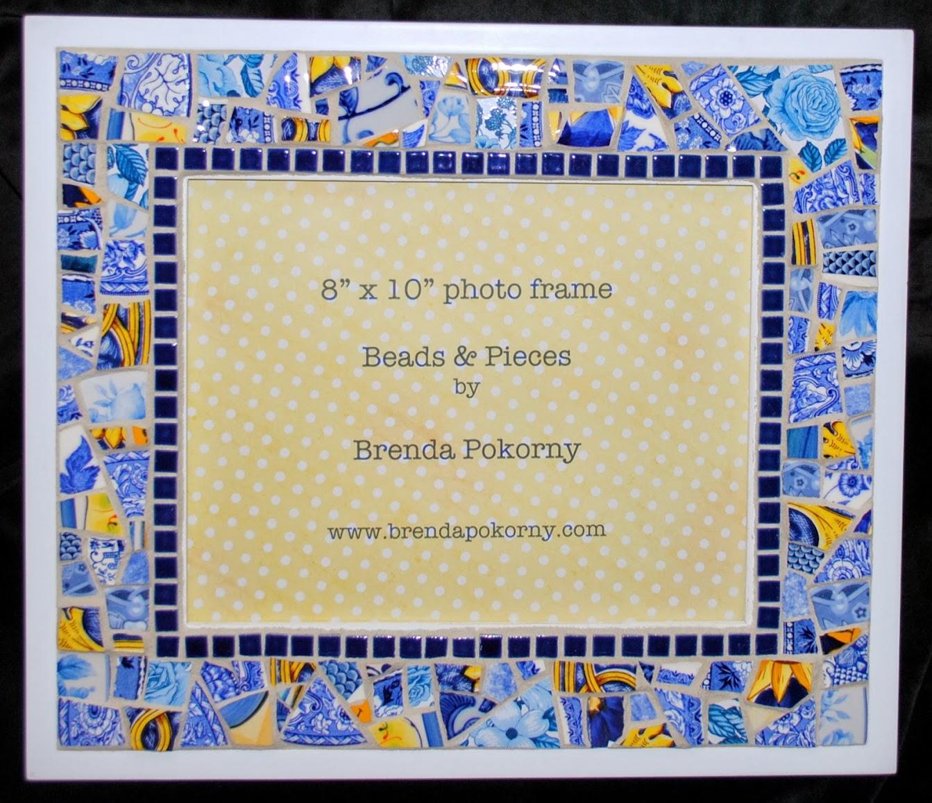 """Sunshine & Cobalt 8"""" x 10"""" Mosaic Wall Frame MOF1376"""