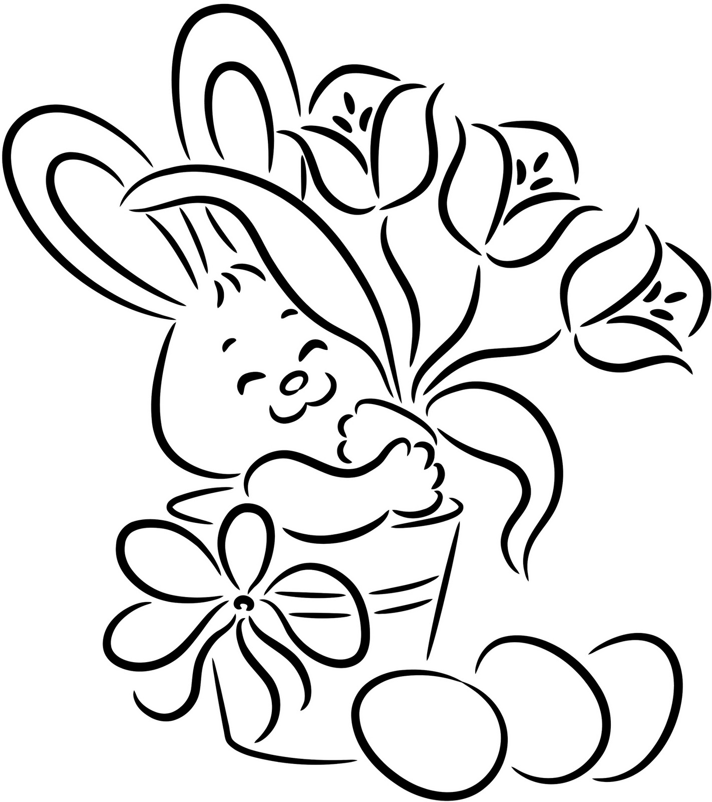 coloring pages of bunnies