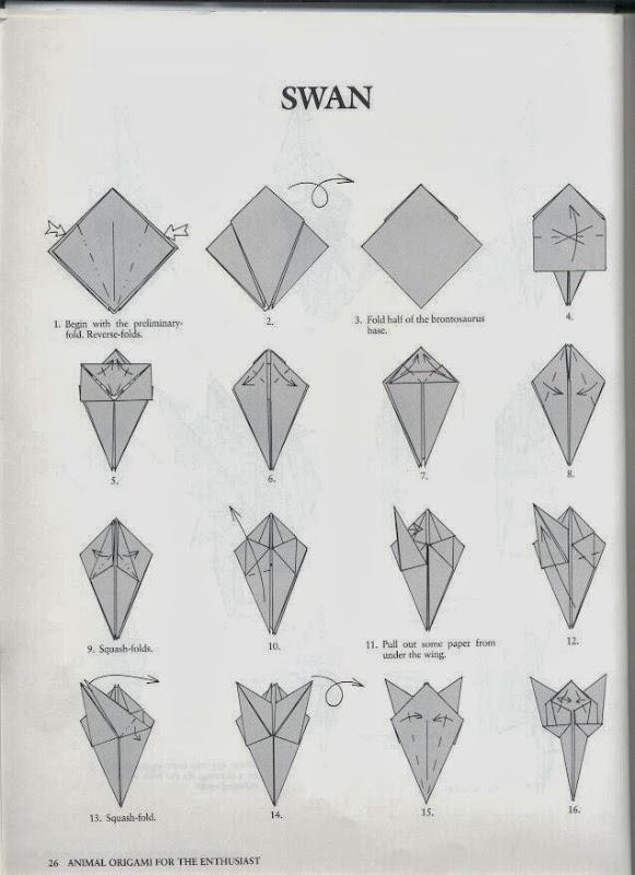 Оригами схема в картинках лебедя