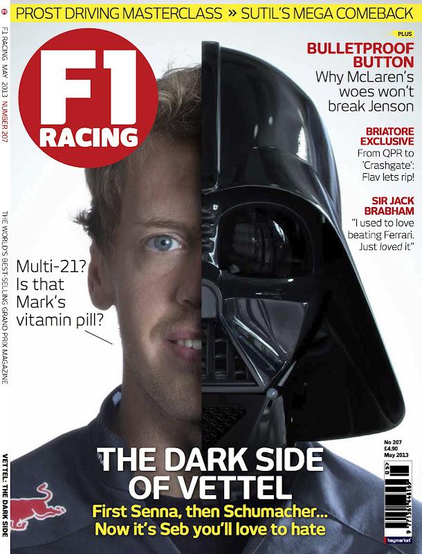 Себастьян Феттель на обложке майского F1 Racing 2013