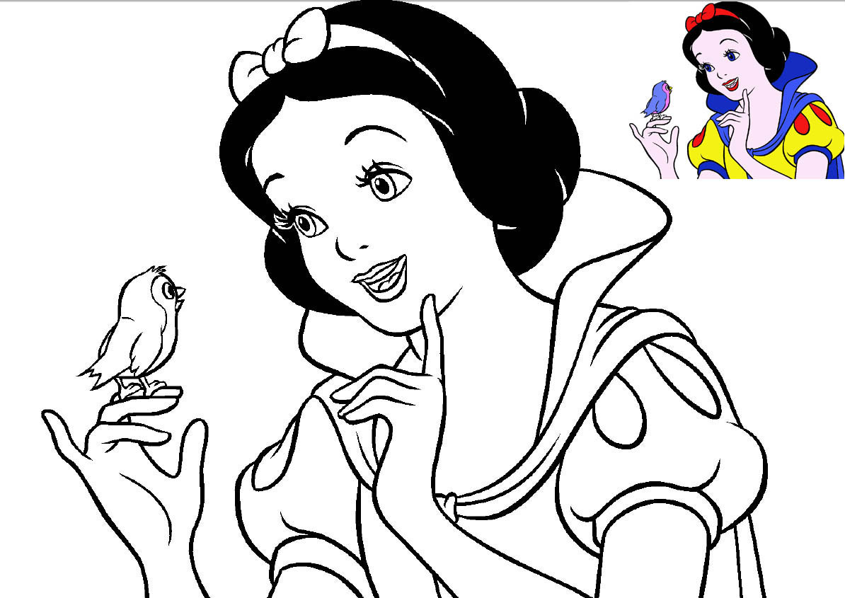 Snow White Coloring Pages  GetColoringPagescom