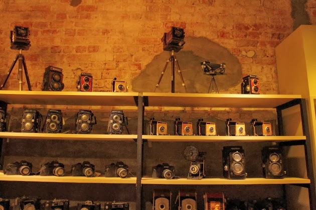 Inside the camera museum at Georgetown, Penang, Malaysia