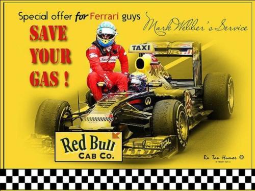 такси Red Bull Марка Уэббера на Гран-при Германии 2011