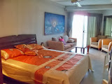 ready to move in studio apartment in a high rise condo just 3 minutes to the sea    to rent in Jomtien Pattaya