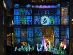 カレッタ汐留のクリスマスイルミネーション2012