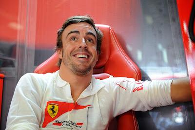 панический смех Фернандо Алонсо на Гран-при Италии 2013
