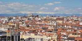 Tejados y la sierra de Madrid