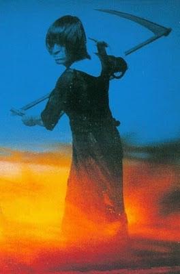 Fragmento de la portada del LP Yeti (1970), segundo álbum del grupo de Múnich Amon Düül