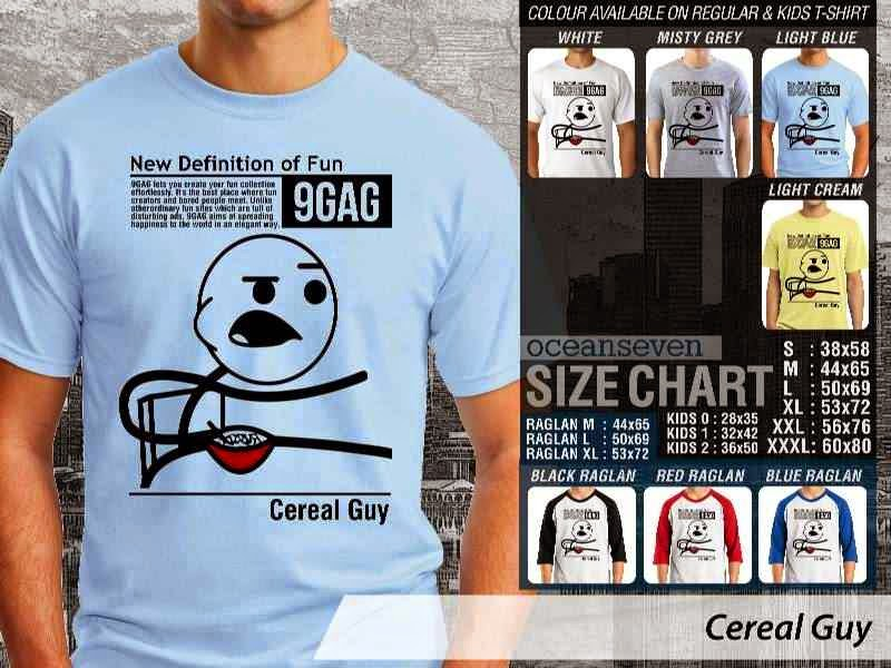 Jual Kaos 9Gag Lucu Meme Cereal Guy distro ocean seven