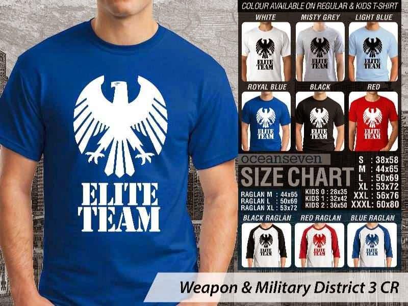 KAOS Militer Elite Team Weapon & Military District 3 distro ocean seven