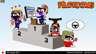 комикс pilotoons по Гран-при Японии 2013