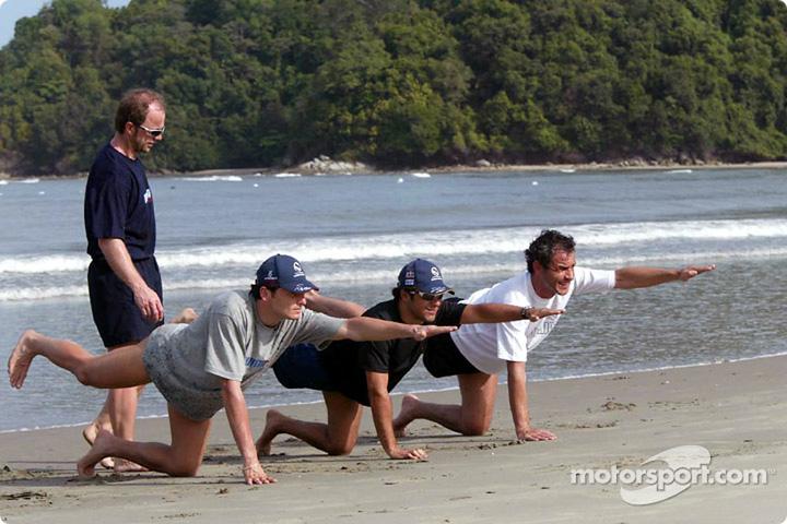 Джанкарло Физикелла и Фелипе Масса на специальной тренировке на Гран-при Малайзии 2004