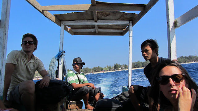 "The rickety and overloaded public ""ferry"" to Gili Air."