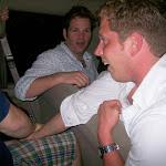 An upset!  Luke kicks Tony's ass at arm-wrestling