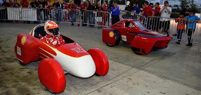 Фернандо Алонсо и Кими Райкконен на Эко-Марафоне Shell перед Гран-при США 2014