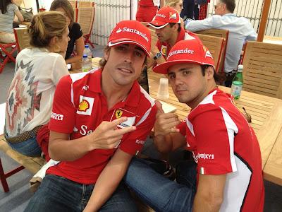 Фернандо Алонсо и Фелипе Масса на Гран-при Канады 2012